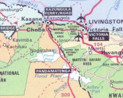 Map showing the study areas map-kazungula-zambia-location-