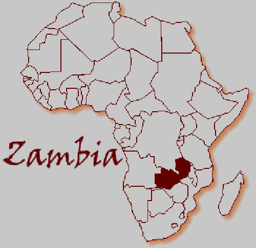 Zambia in maps part 1 major maps of zambia plus map of africa location of zambia gumiabroncs Choice Image